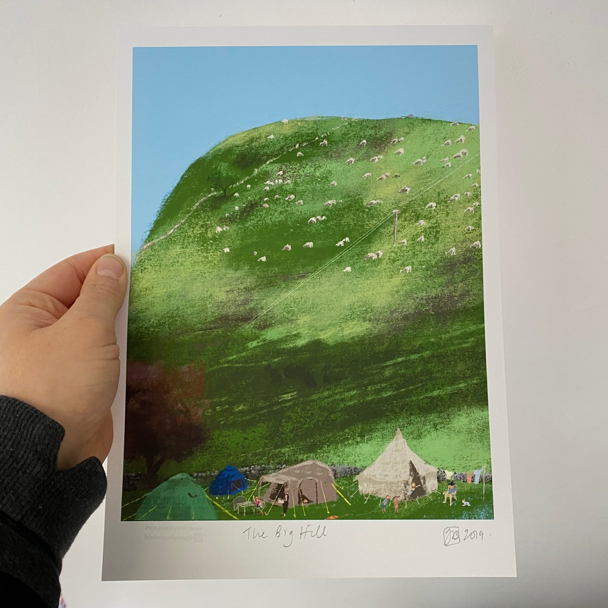 Image of 'The Big Hill' - A4/A3 archive quality print