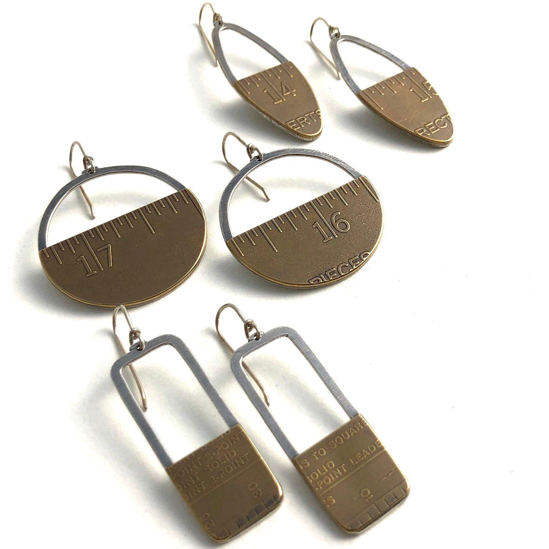 Image of Vintage advertising rule earrings