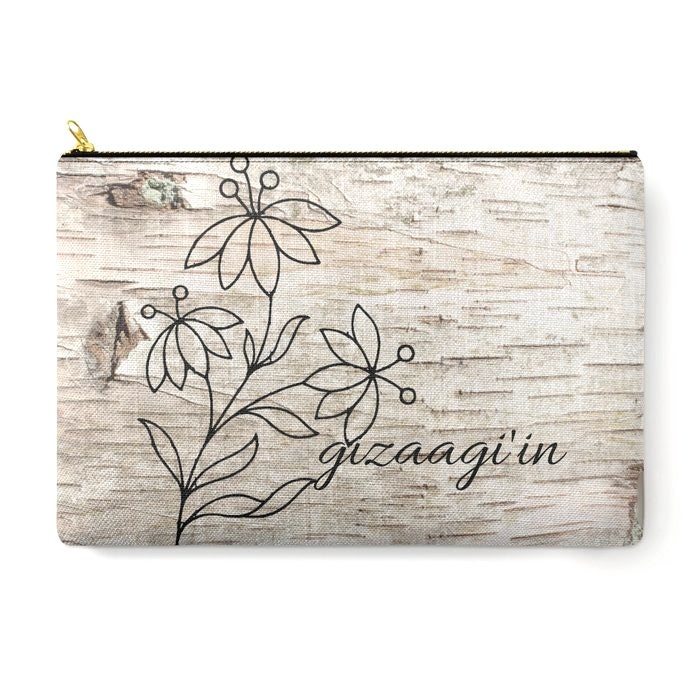 Image of Gizaagi'in Zipper Pouch (Birch)