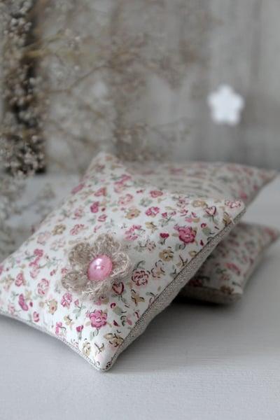 Image of Carré senteur lavande lin/coton (KRFLEUR)