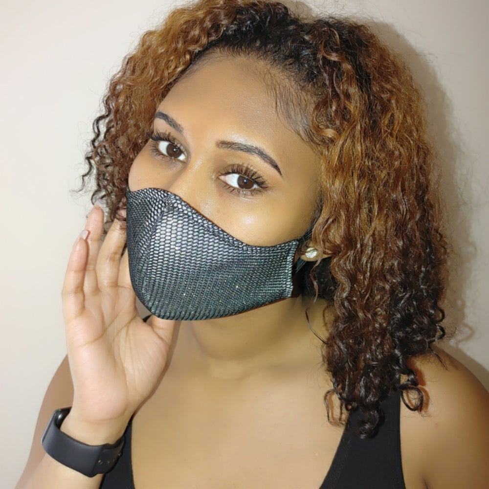 Image of Sparkle and Netting Mask