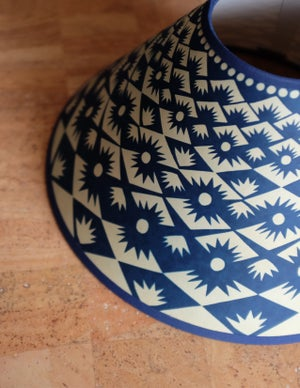 """Lampshade 12"""" - Tuft in Blue"""