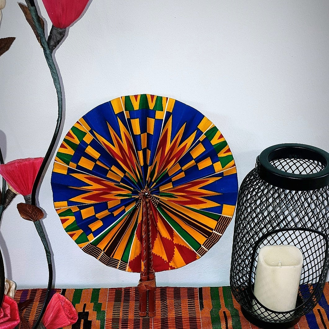 Image of ADJOA AFRICAN PRINT HANDHELD FAN