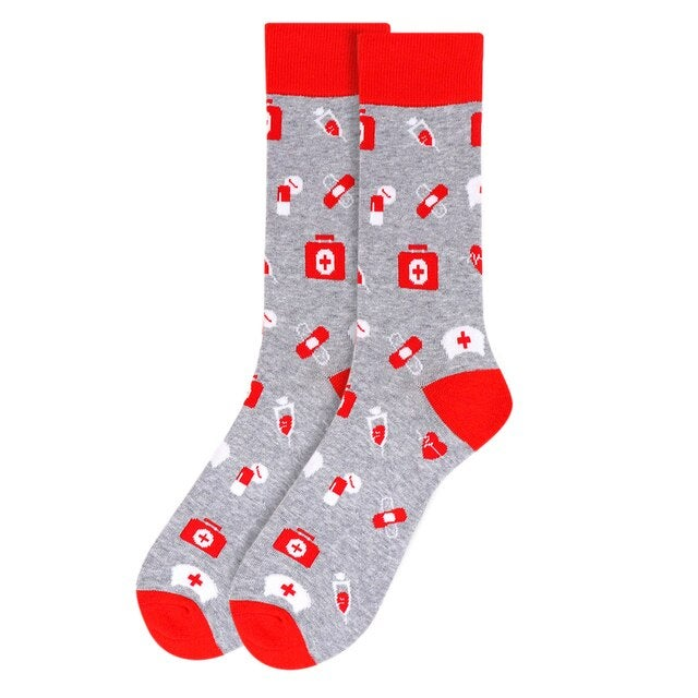 Image of Say Thank You To A Frontline Hero Pattern Novelty Socks (Women's or Men's) Pay it Forward