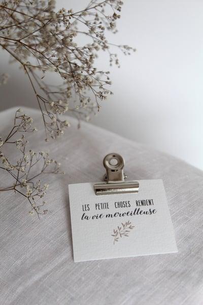 Image of Etiquette cartonnée 'Les petites choses ...' (ETKLPC)