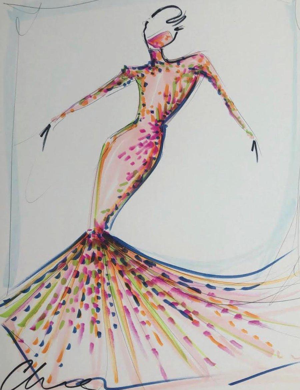 """Image of """"Mask Series Look 7"""" - Sketch Print"""