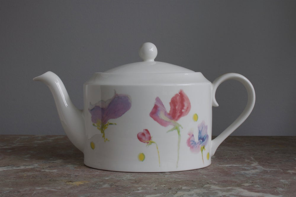 Image of Sweet Pea English Fine Bone China Tea Pot