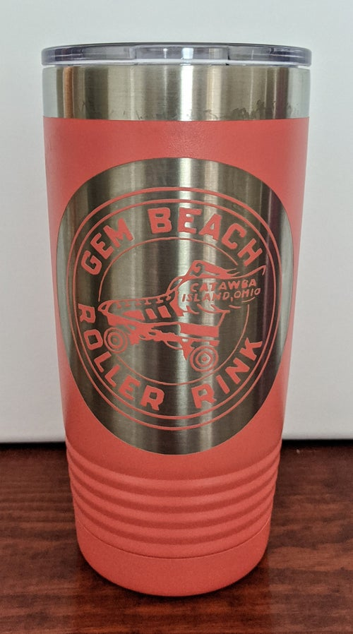 """Image of """"Gem Beach Roller Rink"""" insulated Tumbler"""