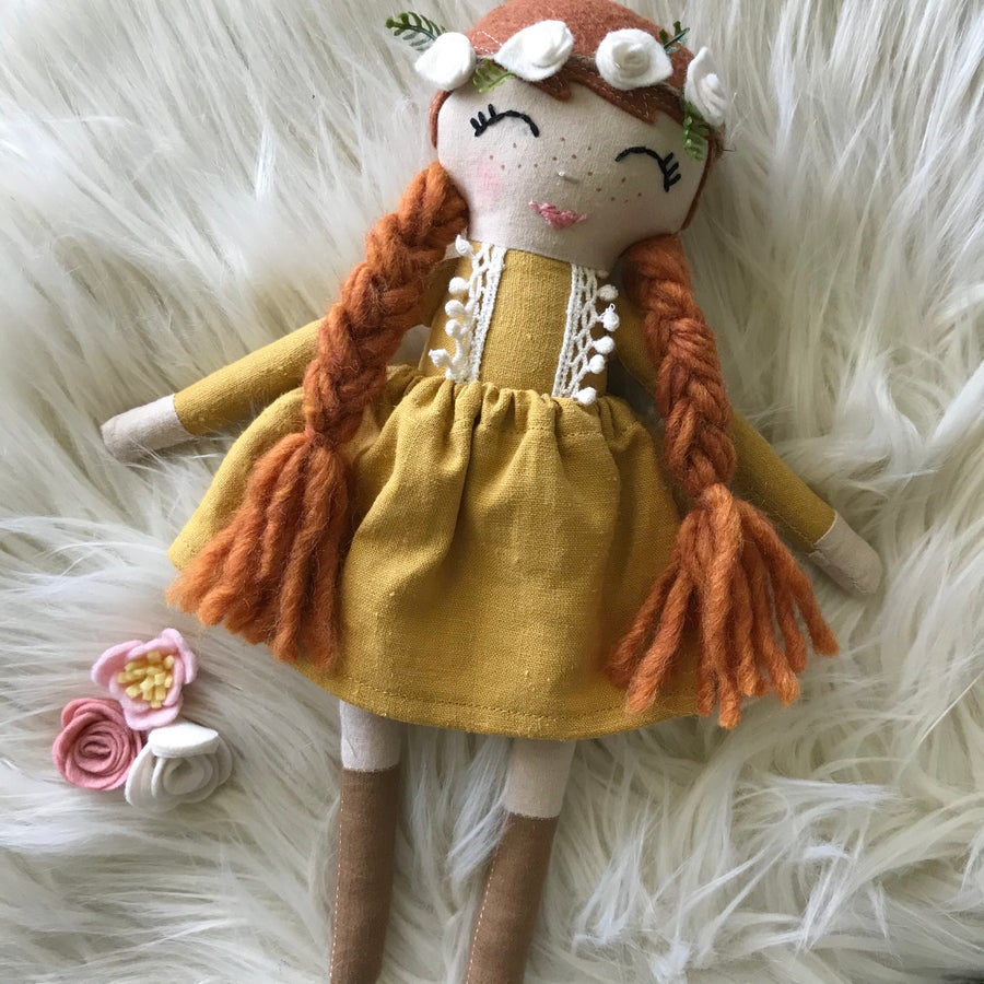 Image of Anne of Green Gables Doll - Yellow