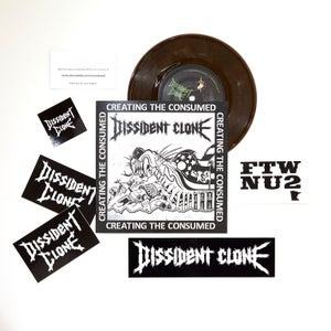 "Image of MAY BUNDLE #3* - TRINITY TEST s/t CD + BONEFIRE ""Fade"" CD + DISSIDENT CLONE 7"" + HIVE/NO SKIN 7"" $20"