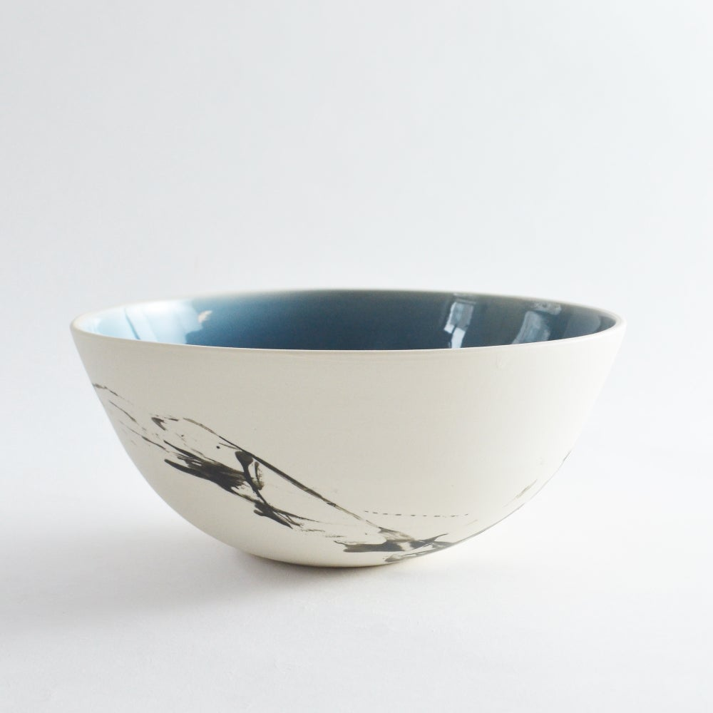 Image of Altered Blue Serving Bowl