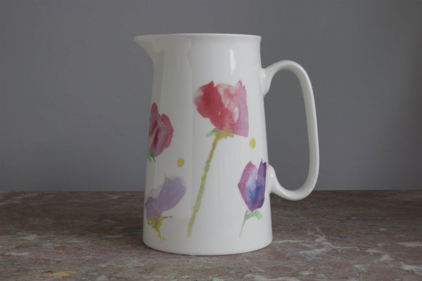 Image of Sweet Pea Fine Bone China 2 Pint  Jug