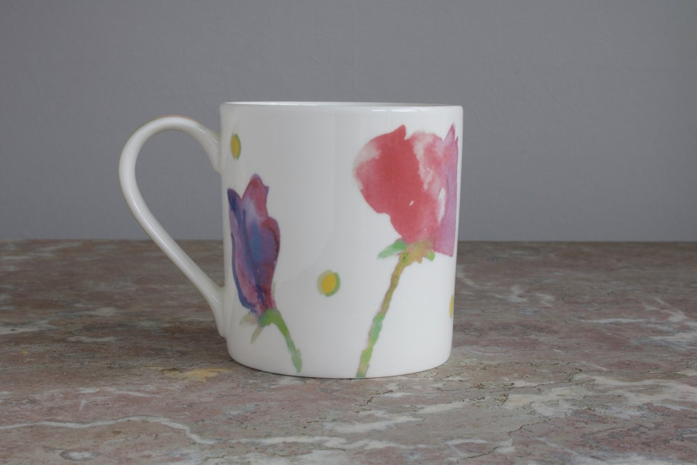 Image of Sweet Pea English Fine Bone China Mug