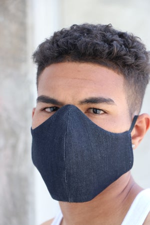 Image of The wala filter installed face mask-  denim 2