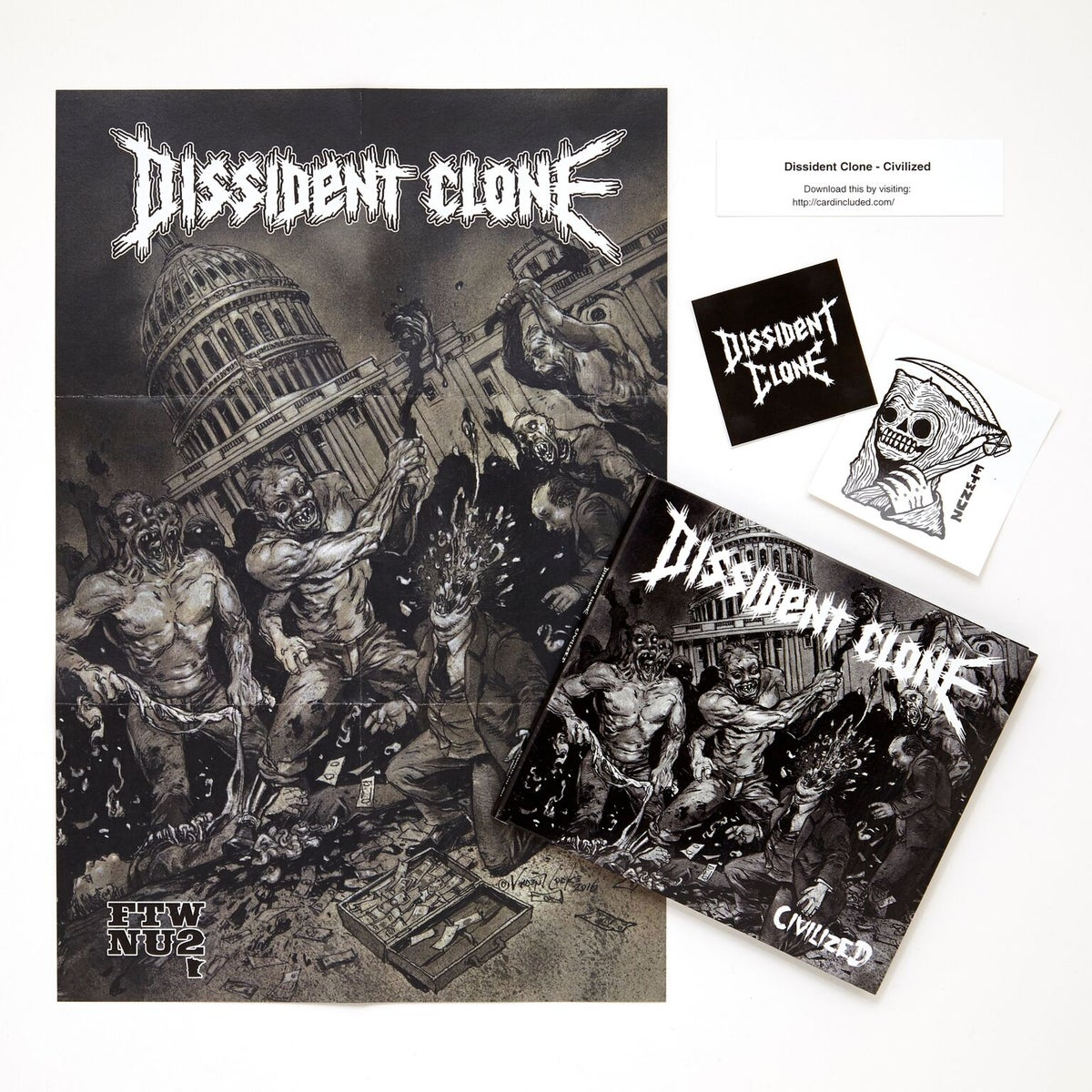 Image of ONLY 3 AVAILABLE! - DISSIDENT CLONE BUNDLE - ALL MUSIC! $20