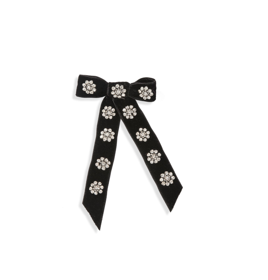 Image of Jennifer Behr Embellish Velvet Bow