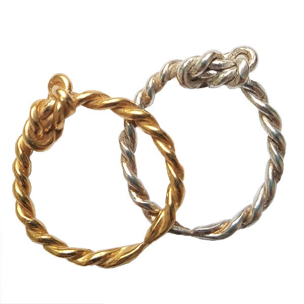 Image of Layla small knot with a twist stacking ring