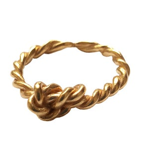 Image of Layla small knot with a twit stacking ring