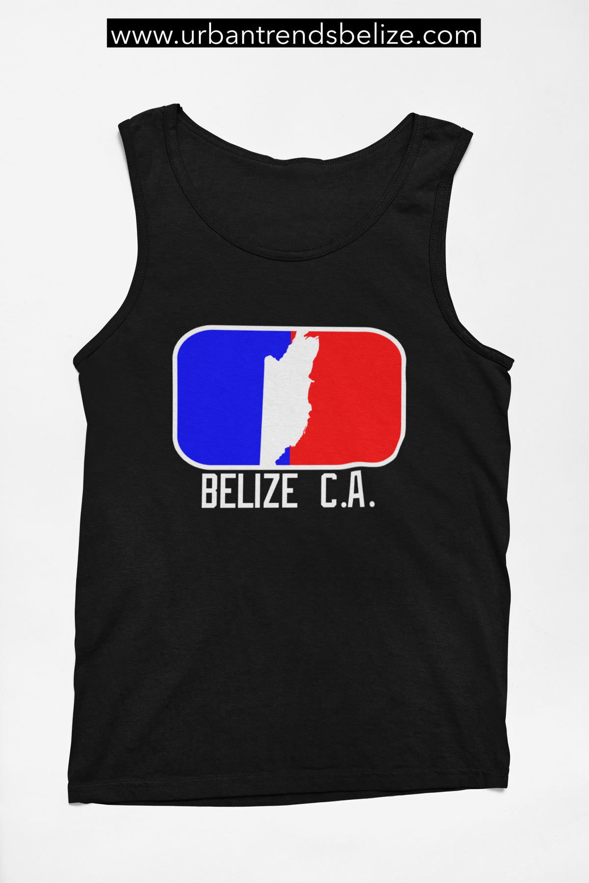 Image of BELIZE - TANK TOP - MAJOR LEAGE BLACK/RED/BLUE/WHITE
