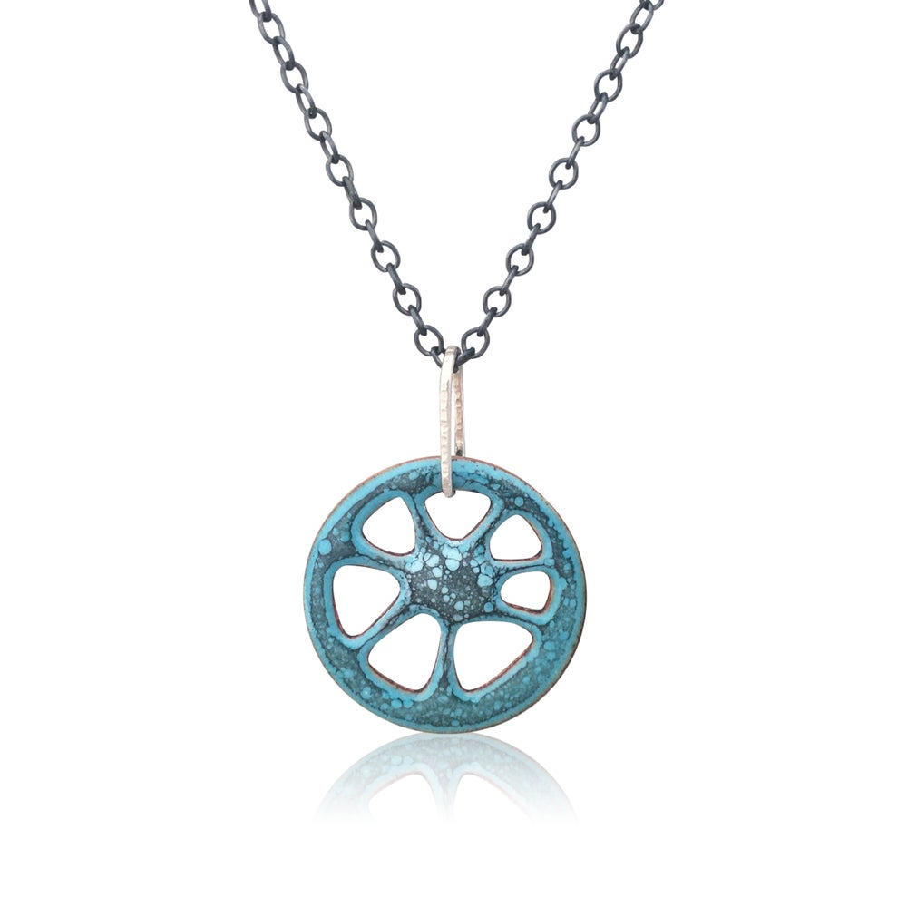 Image of blue ray necklace