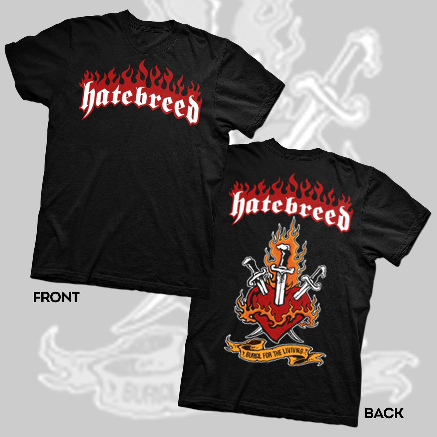 """Image of HATEBREED """"BURIAL FOR THE LIVING 98 TOUR"""" SHIRT"""