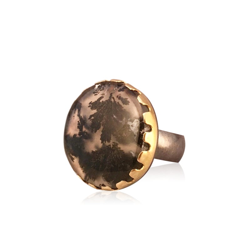 Image of marfa plume agate ring