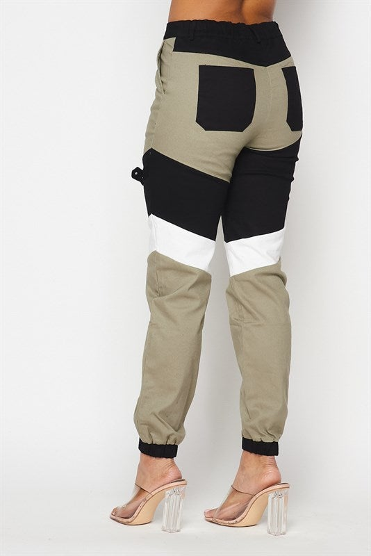 Image of Color Block Cargo Pants