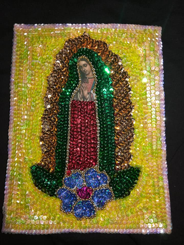 Image of Sequin Virgen de Guadalupe