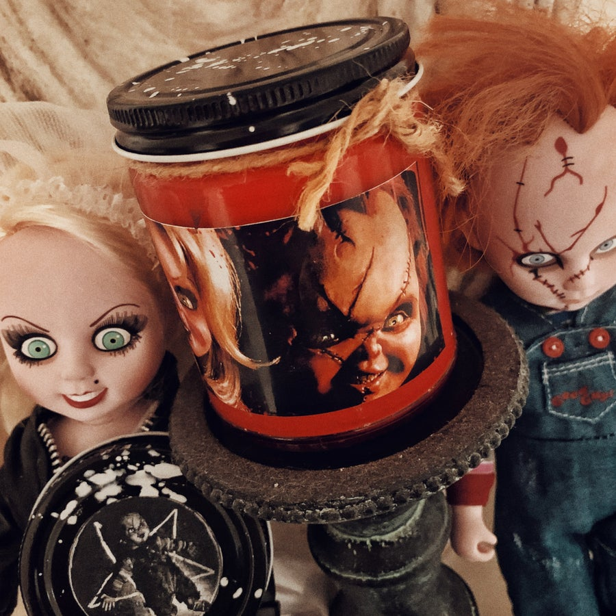 Image of Bride of Chucky Candle