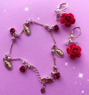 Virgencita Con Rosas