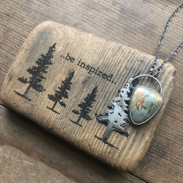 Image of Jasper Tree Pendant