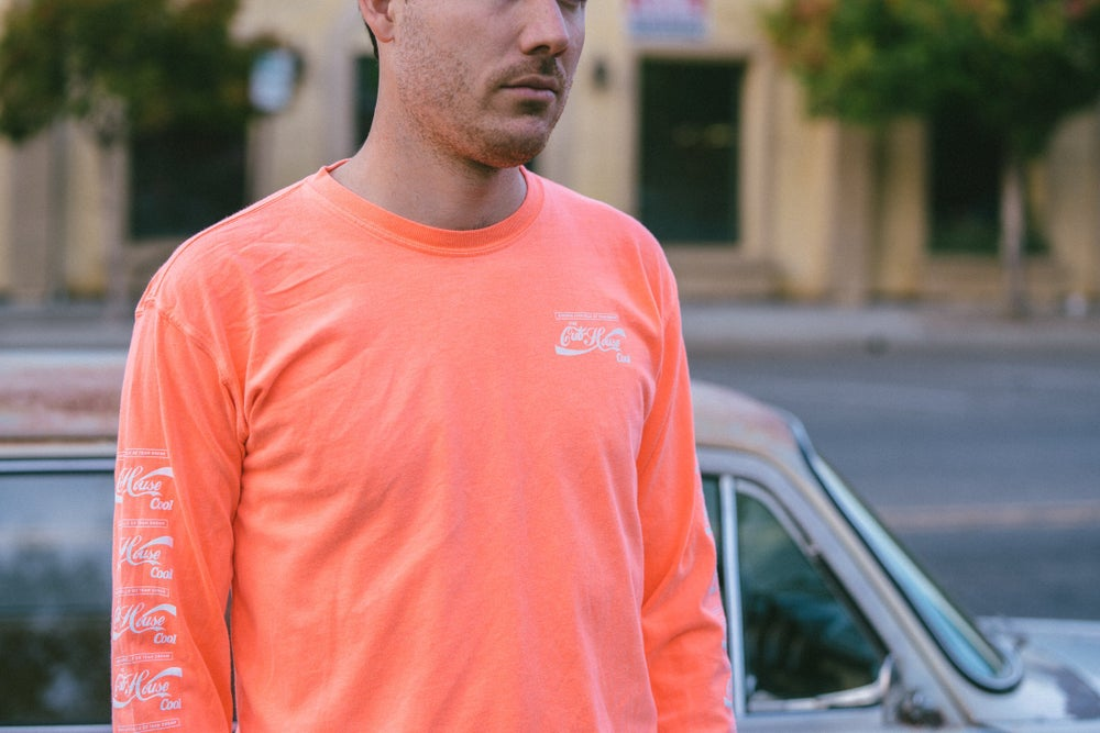 Cool Cola Heavyweight Longsleeve Coral (X-Large)