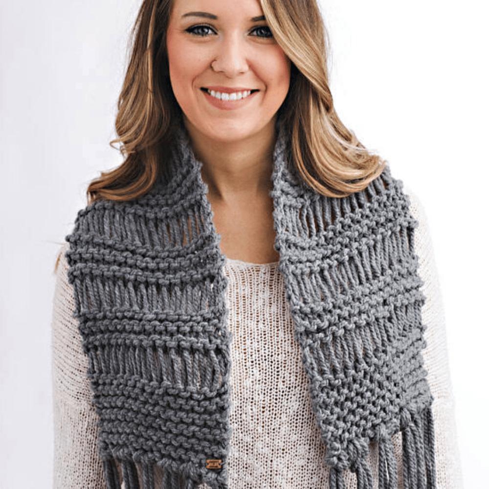 Image of Drop Stitch Scarf Knitting Pattern