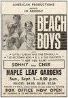 Beach Boys Maple Leaf Gardens 1965
