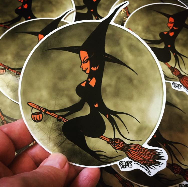 Image of BEWITCHED - STICKER - LIMITED QUANITY