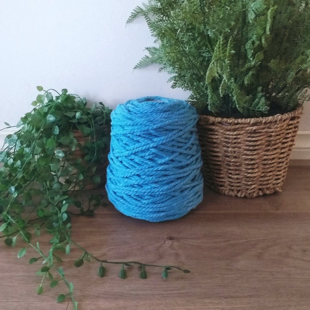 Image of 1kg Sky Blue 3ply Rope