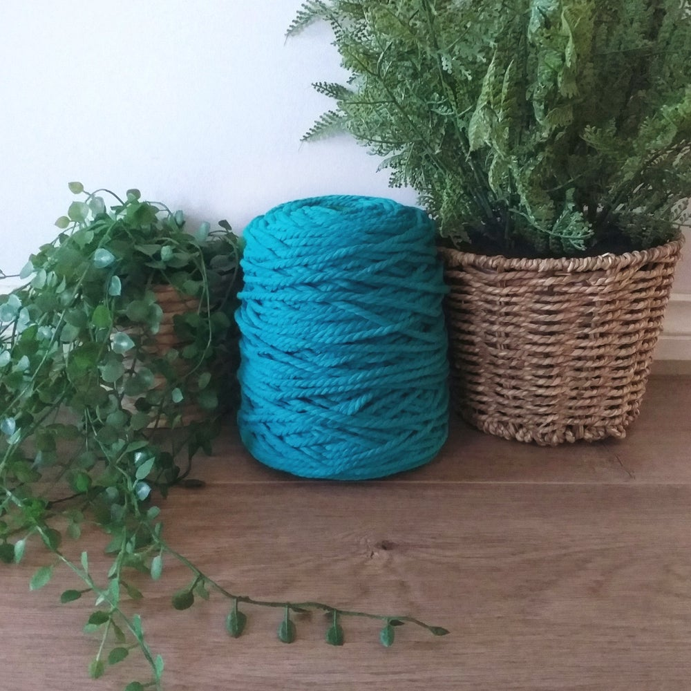 Image of 1kg Teal 3ply Rope