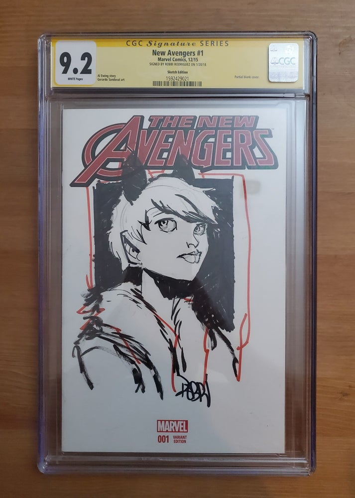 Image of The New Avengers #1 : Squirrel Girl - CGC Signature Series 9.2 Singed & Sketch By Robbi Rodriguez