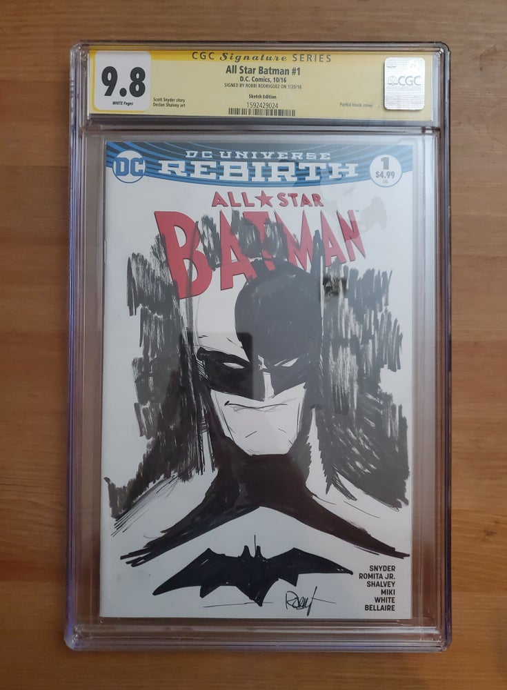 Image of All Star Batman #1 - CGC Signature Series 9.8 Signed & Sketch By Robbi Rodriguez