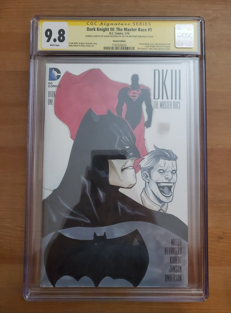 Image of Dark Knight III (Both Sides Sketched) - CGC Signature Series 9.8 Signed & Sketch By David Messina