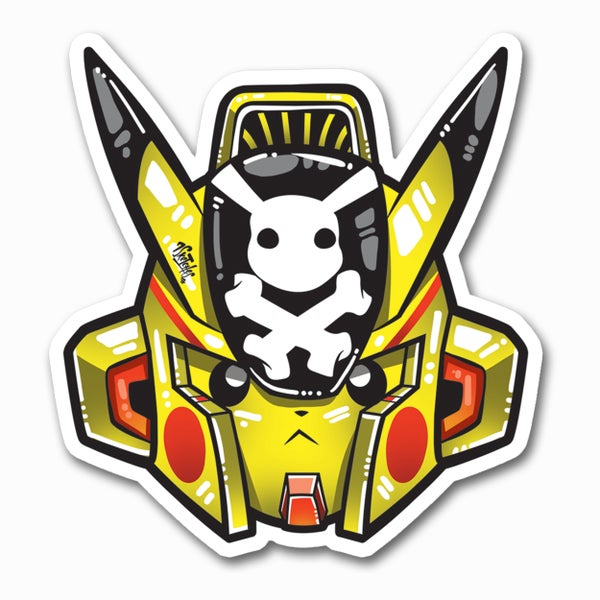 Image of Gundam Pika Sticker