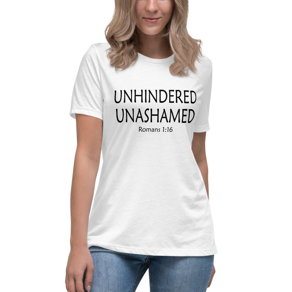 Image of Unhindered and Unashamed-  Women's Relaxed T-Shirt