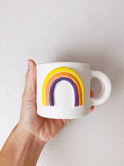 Image of Rainbow Mug 10oz Tangerine