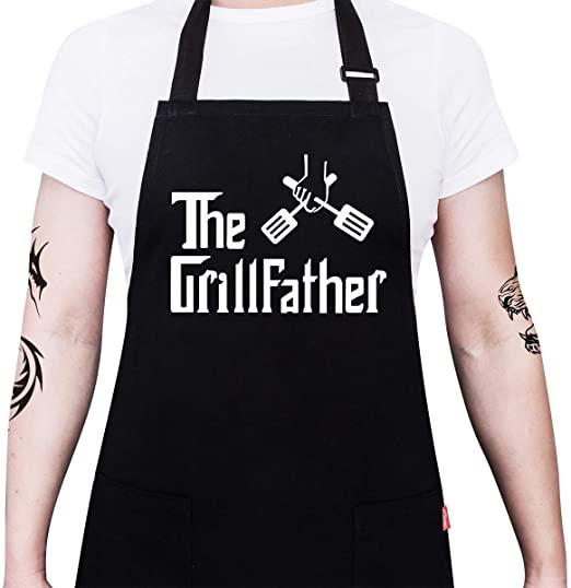 "Black Apron ""GrillFather"""