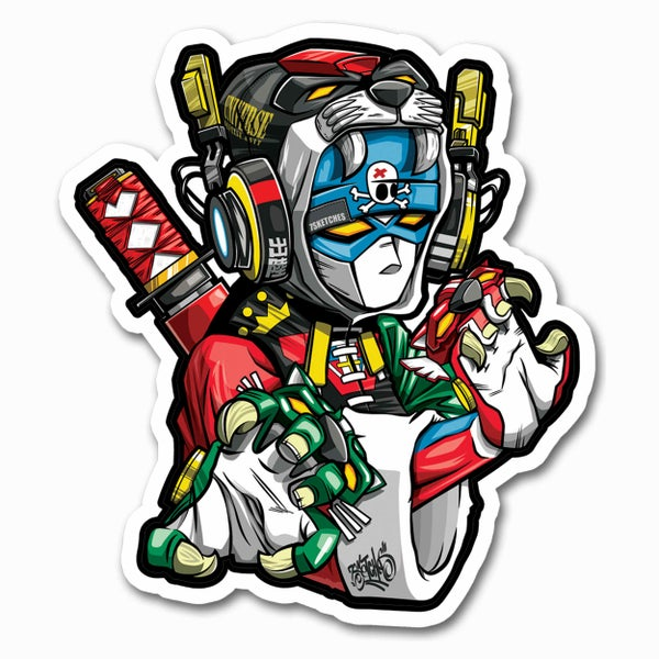 Image of Kung Fu Voltron Sticker