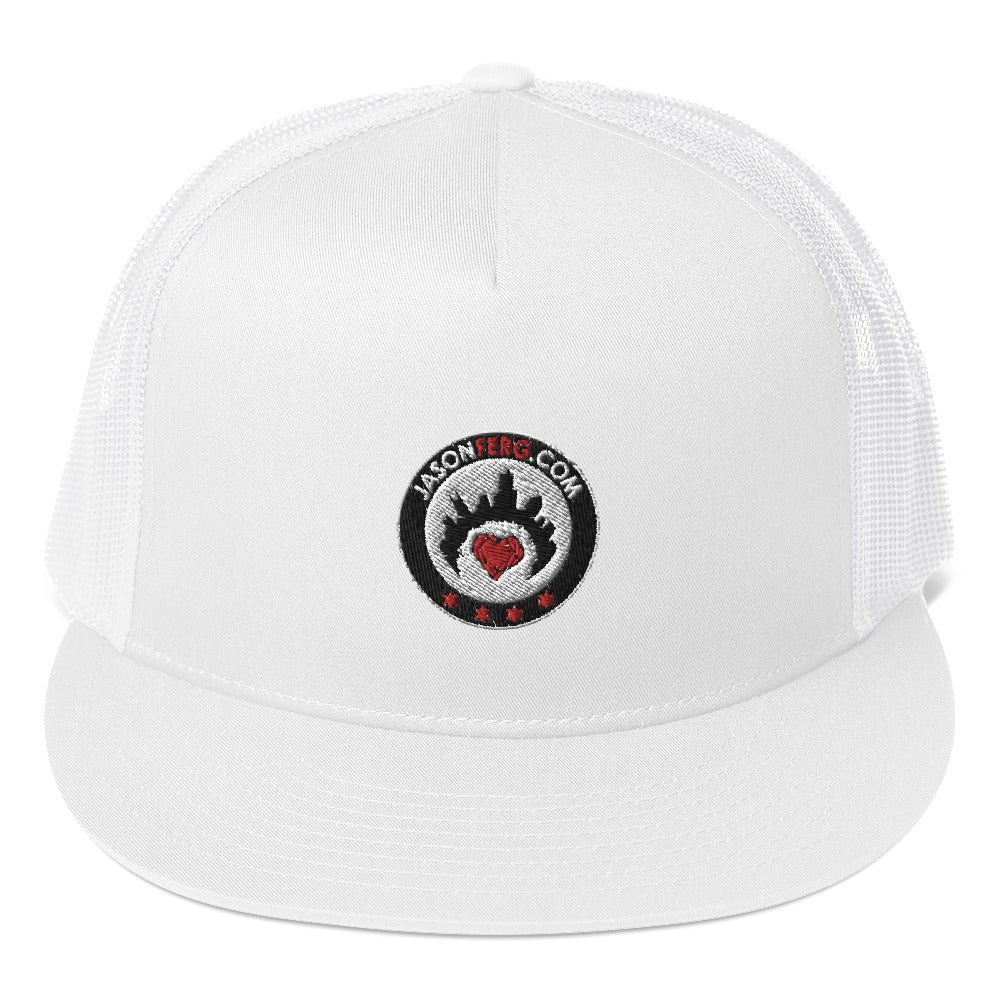 Image of Jason Ferg Music Shield Trucker Snapback Hat