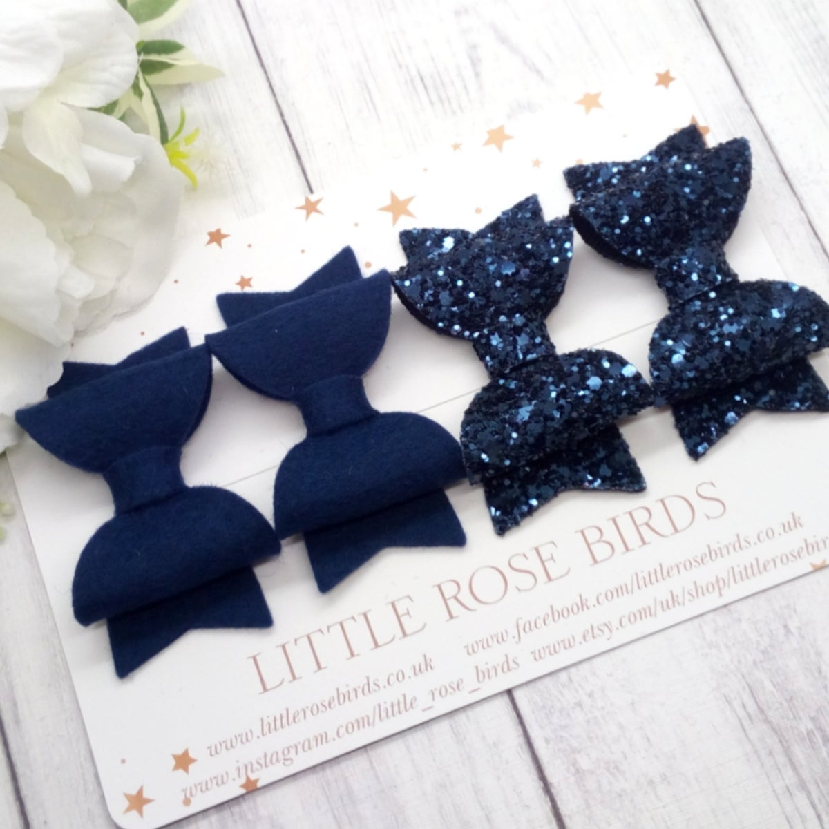 Image of Navy Blue Pigtail Set