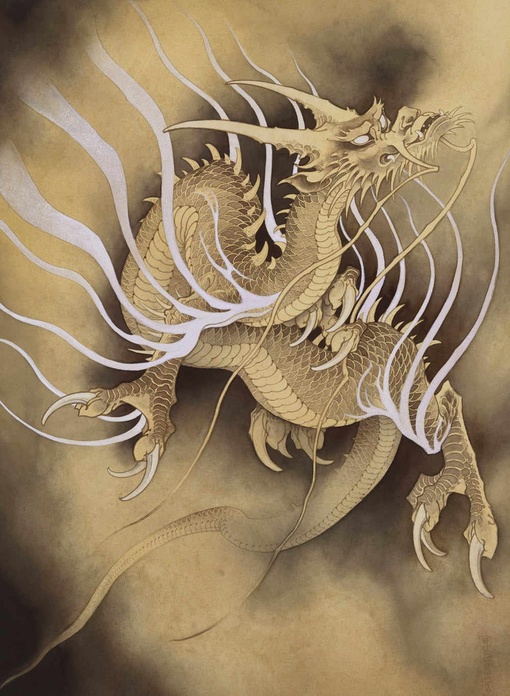 Dragon in mist