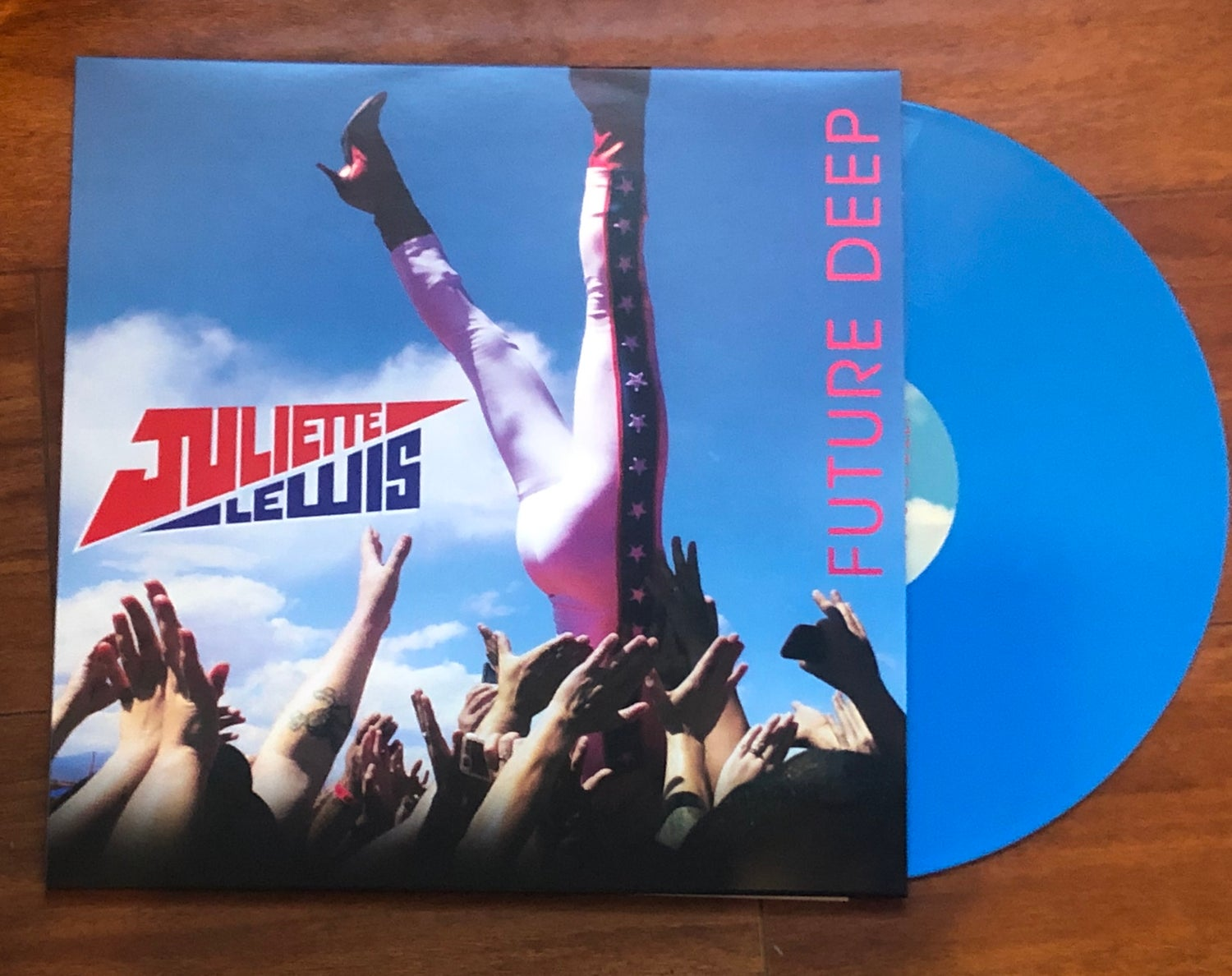 Image of Future Deep BLUE  color vinyl record (not signed)