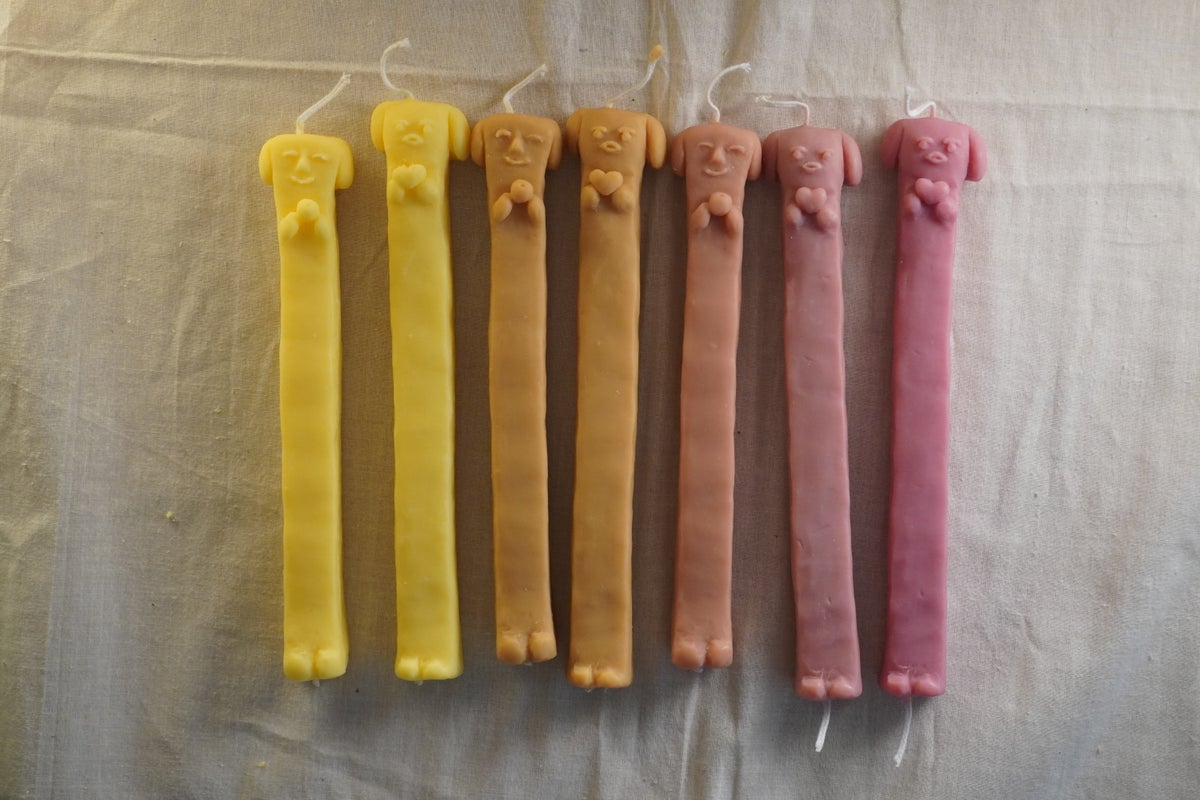 Image of Long Doggy Candles 1